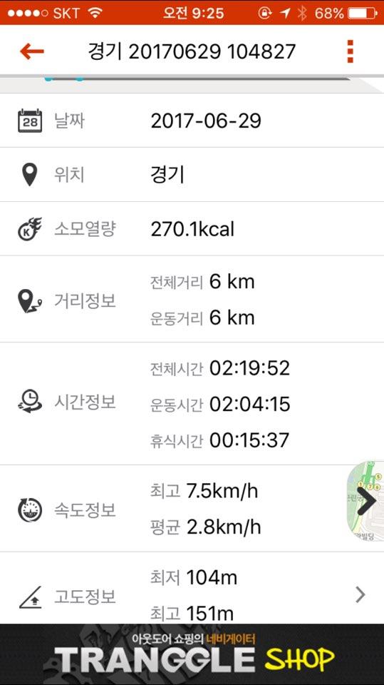한탕강둘레길 운동정보