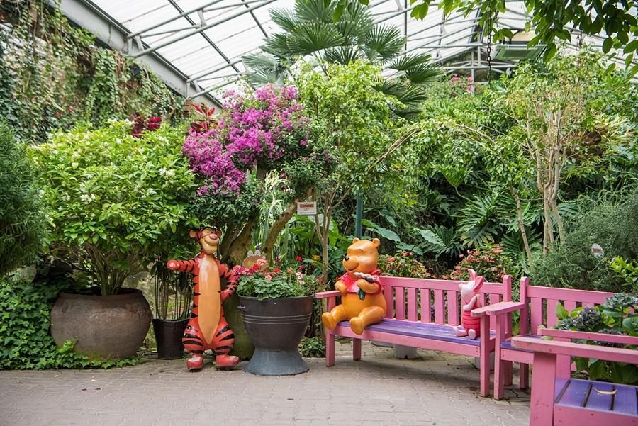 식물원 푸우와 티거 포토존