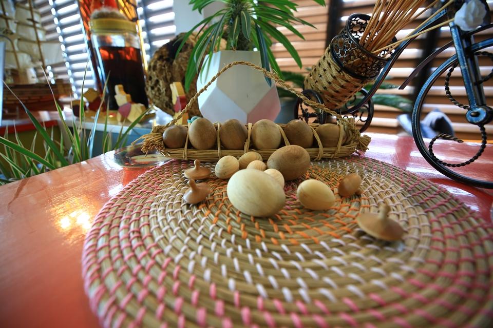 계란모양의 인테리어