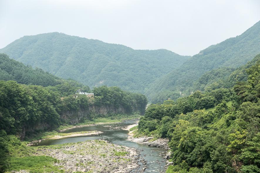 한탄강의 전경