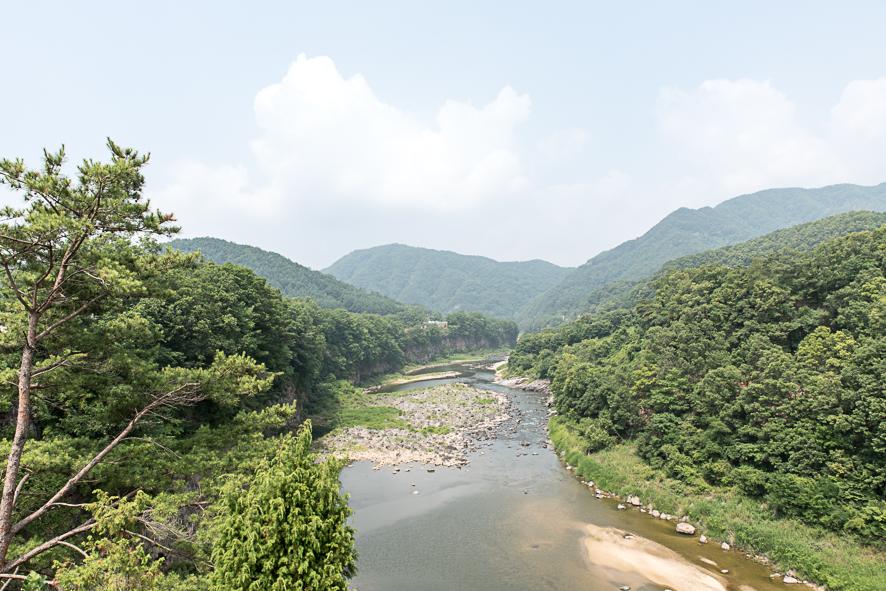 한탄강이 보이는 풍경