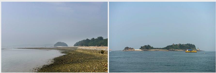 도지섬(왼쪽)과 매박섬