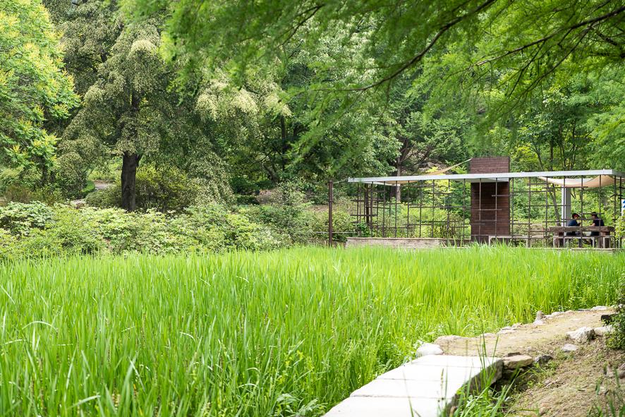 수목원 쉼터와 조경
