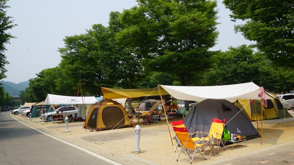 텐트들의 모습