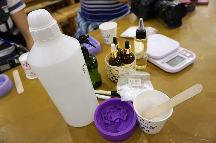 석고방향제 만드는 재료 사진