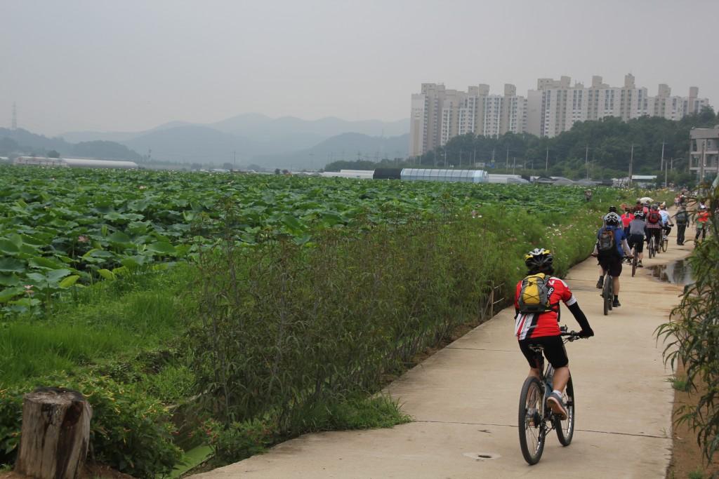 자전거 라이딩 하는 사람들