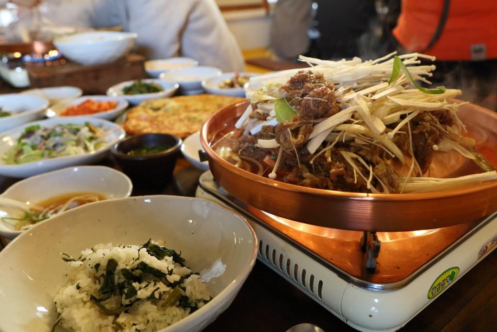 고당의 곤드레밥과 불고기 상차림