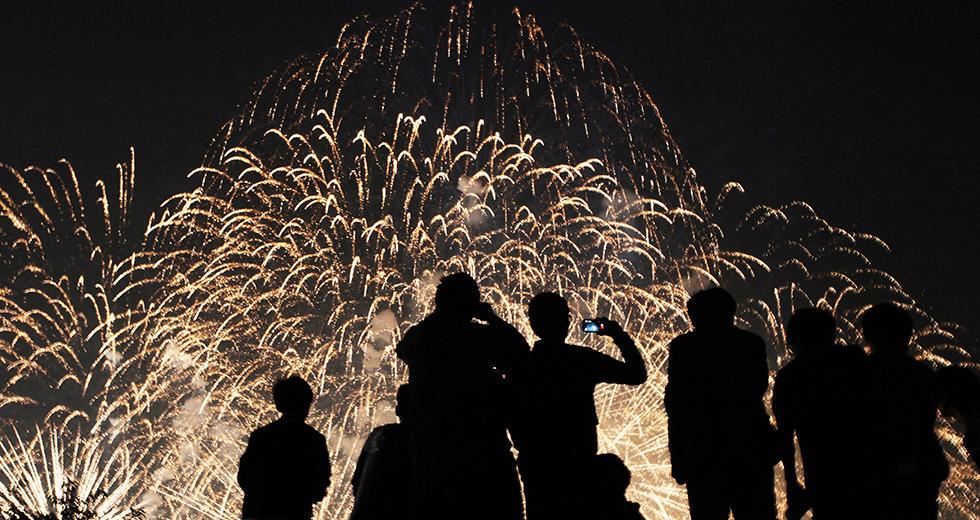 チャラ島花火祭り2015