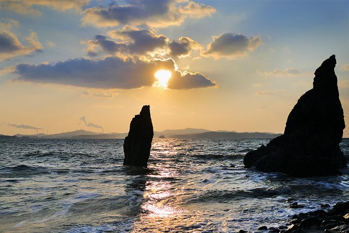 九峰島落照展望台