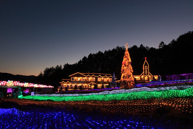 ハーブアイランド光童話祭り Lighting Show in Santa Village
