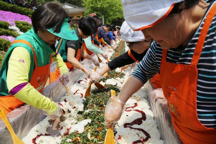 楊平龍門山山菜祭り