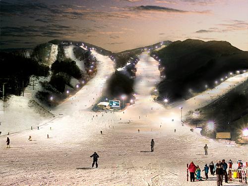 昆池岩滑雪渡假村(곤지암리조트 스키장)4
